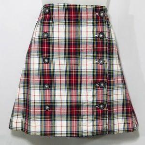 Lilypod School Girl Plaid Tartan Mini Skirt